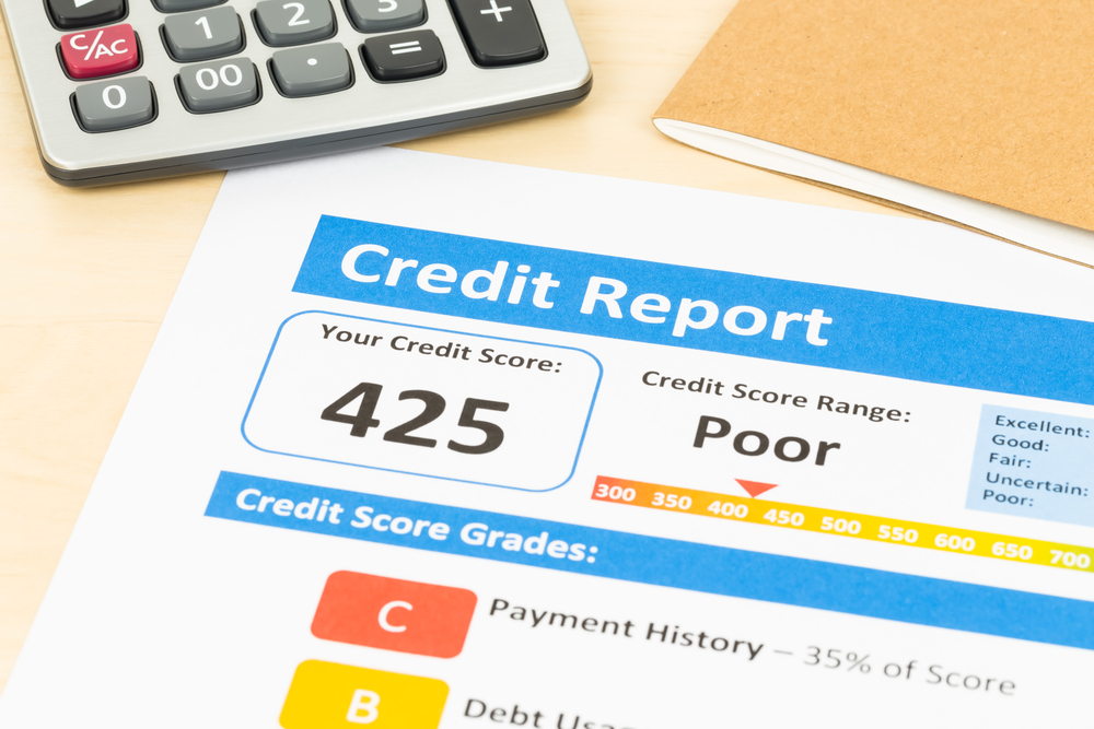 credit score when filing a bankruptcy